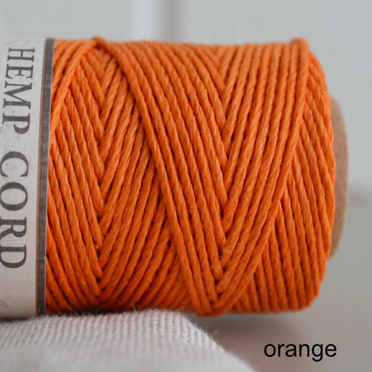 Hemptique hemp cord 1mm 50g Orange