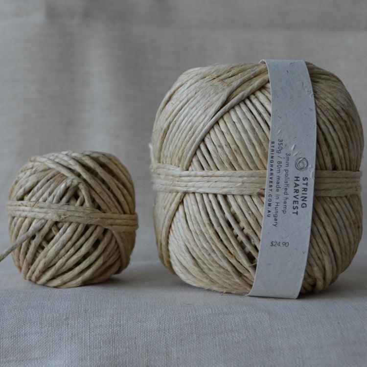 3mm polished hemp 80g / 370g - string-harvest