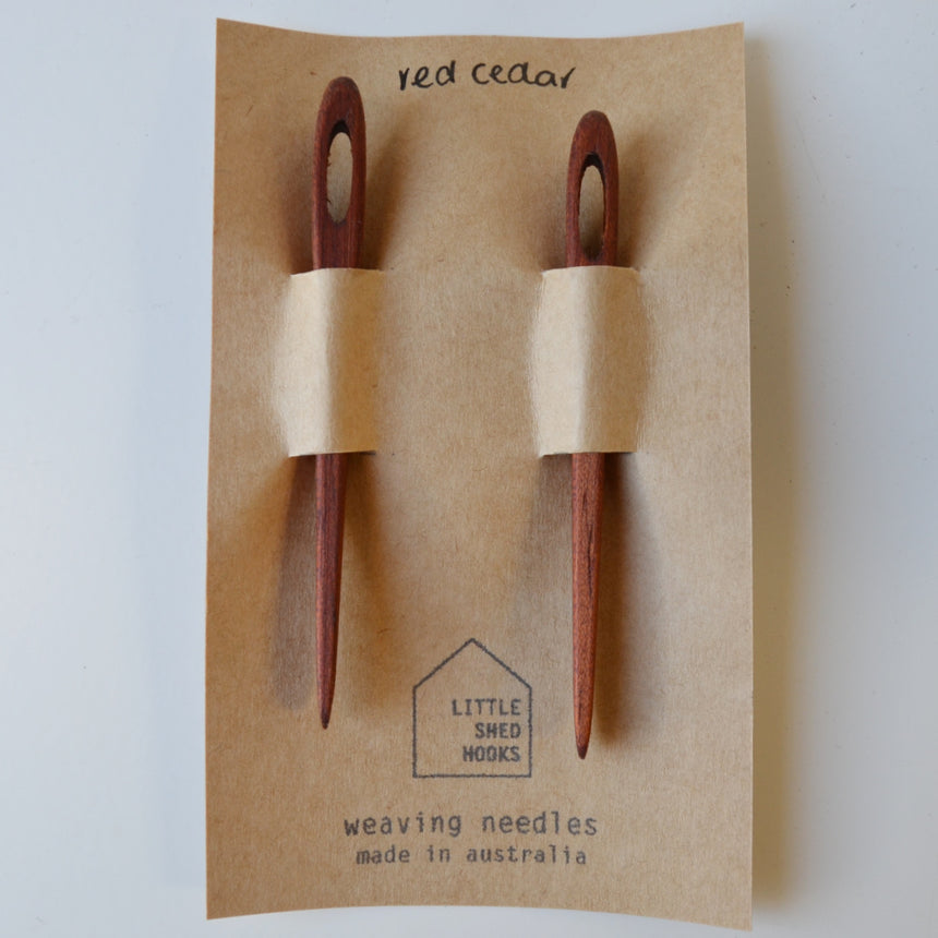 reclaimed wood needle 2 pack: red cedar