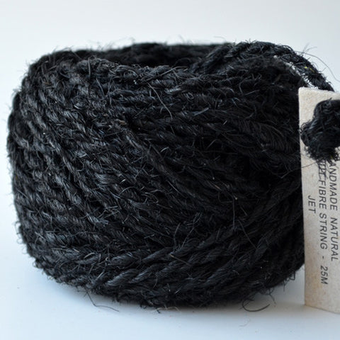 Coconut coir jet black 25m - String Harvest