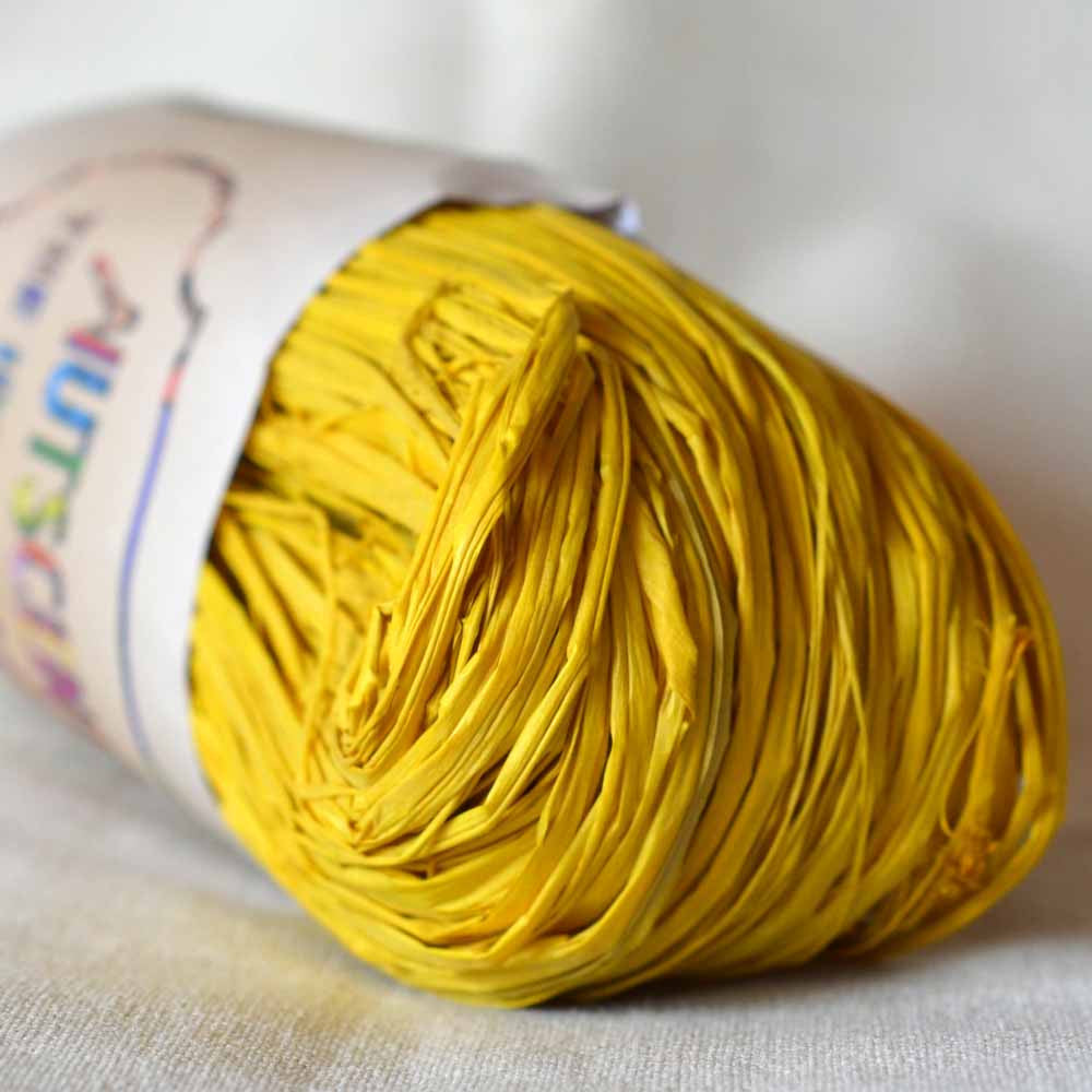 Nutscene Raffia: 50g Yellow - string-harvest