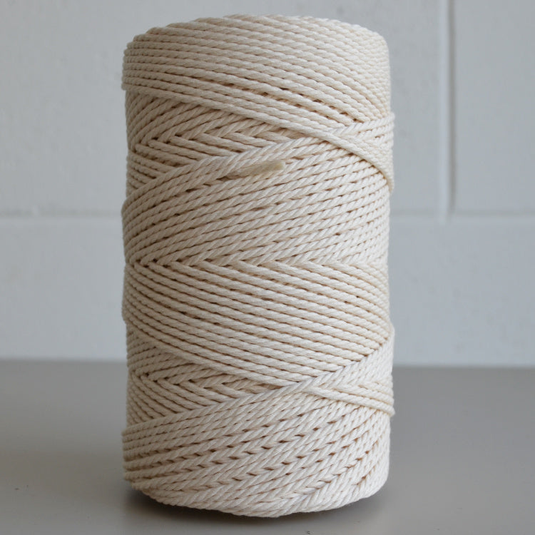 Recycled cotton rope 3mm - natural