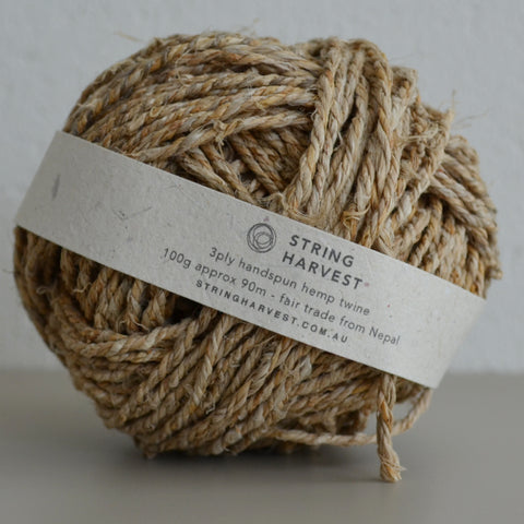 3ply handspun hemp string