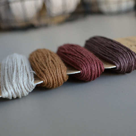 hemp cord set - shades of bronze