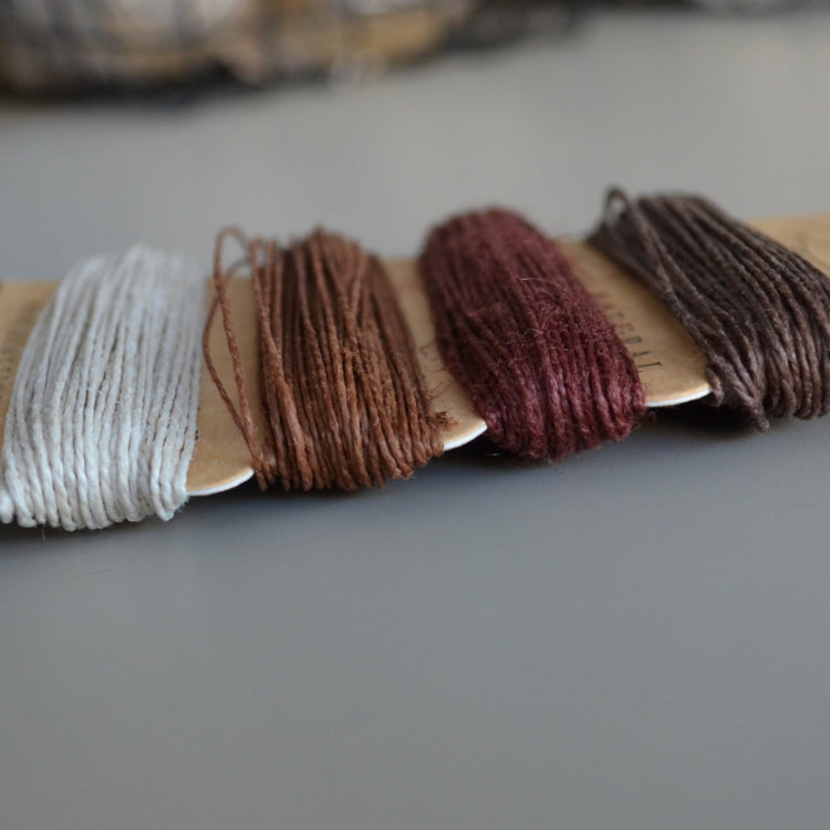 hemp cord set - shades of bronze - string-harvest