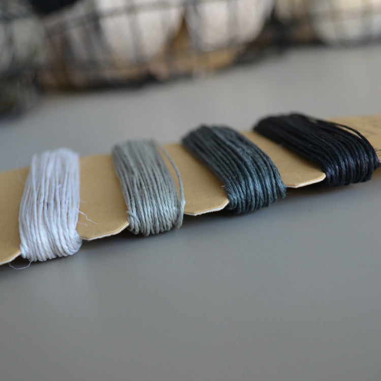 Hemp cord set - Shades of Onyx