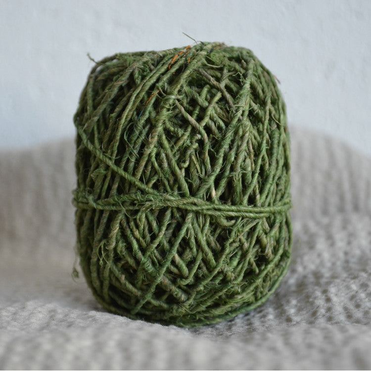 Hand-spun hemp twine: 20g Grass Green