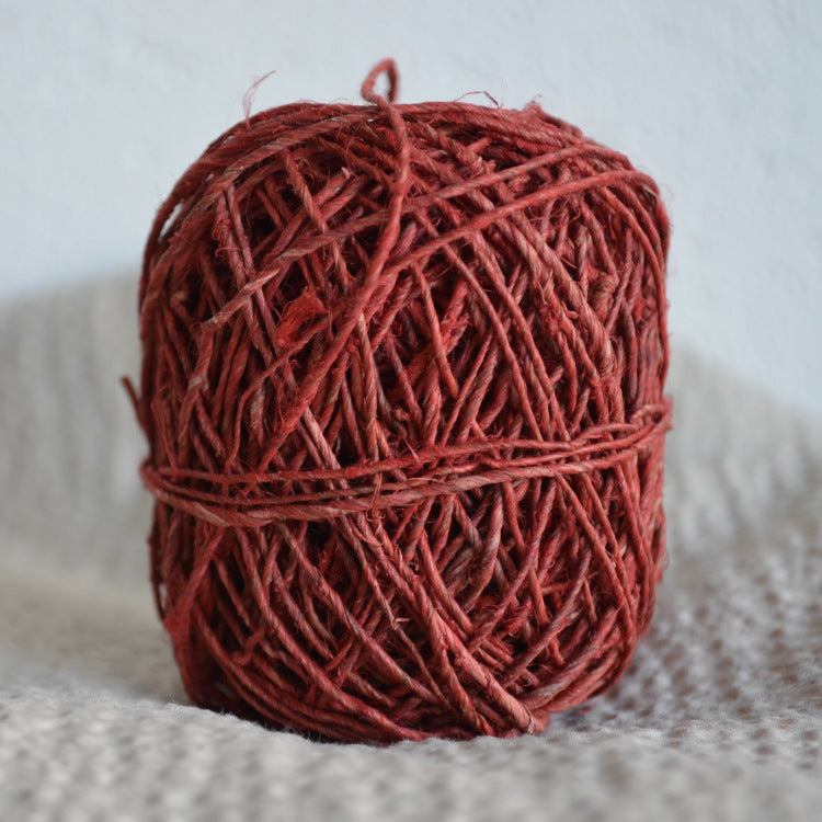 Hand-spun hemp twine: 20g Red