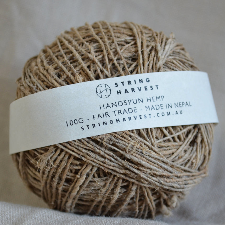 Single ply fair trade handspun hemp 100g / 500g