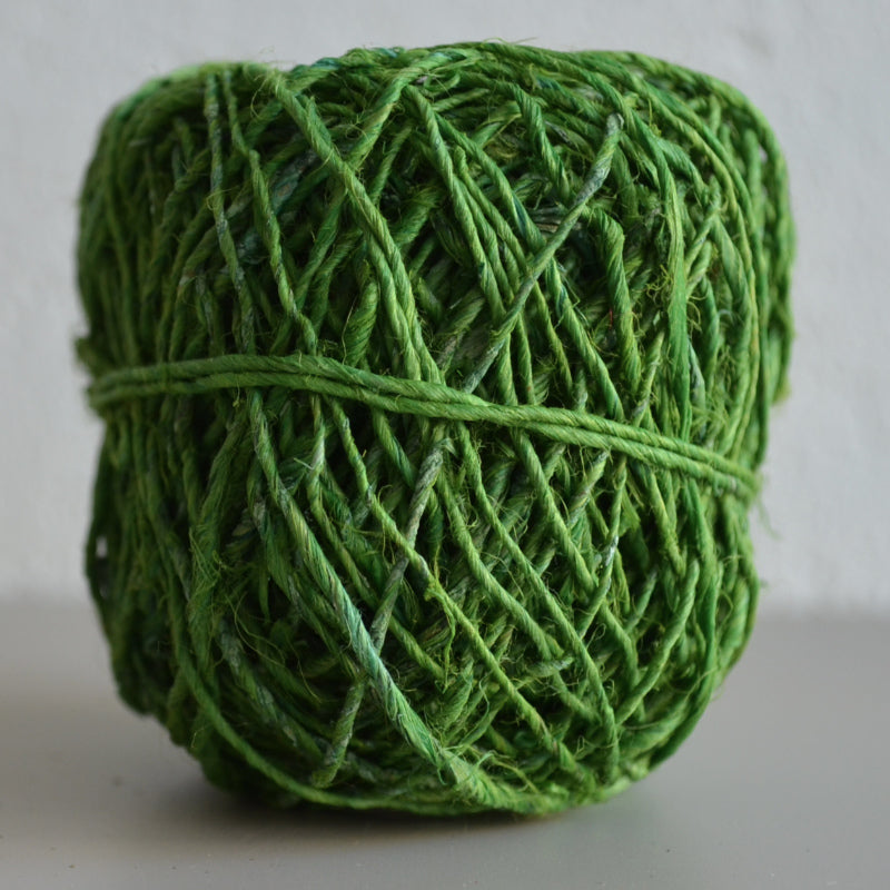 Hand-spun hemp twine: 20g Fresh Green