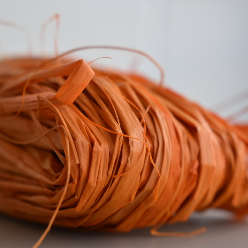 Nutscene Raffia: 50g Burnt Orange