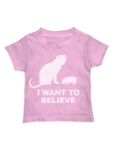 I Want to Believe toddler tee