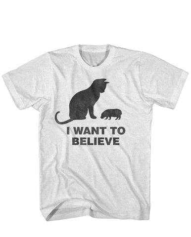 I Want to Believe House Hippo tee