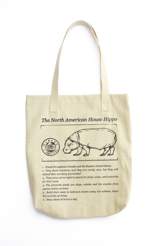 House Hippo Facts tote