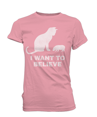I Want to Believe House Hippo girl tee