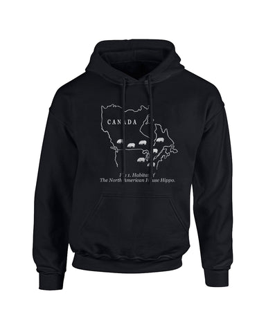 Habitat of the House Hippo hoodie