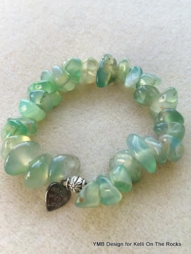 large natural moss bracelet stone sterling silver jewelry bead agate products green