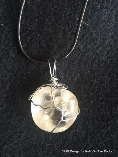 Clear quartz crystal pendant with necklace kelli in the raw tv clear quartz crystal pendant with necklace aloadofball Choice Image