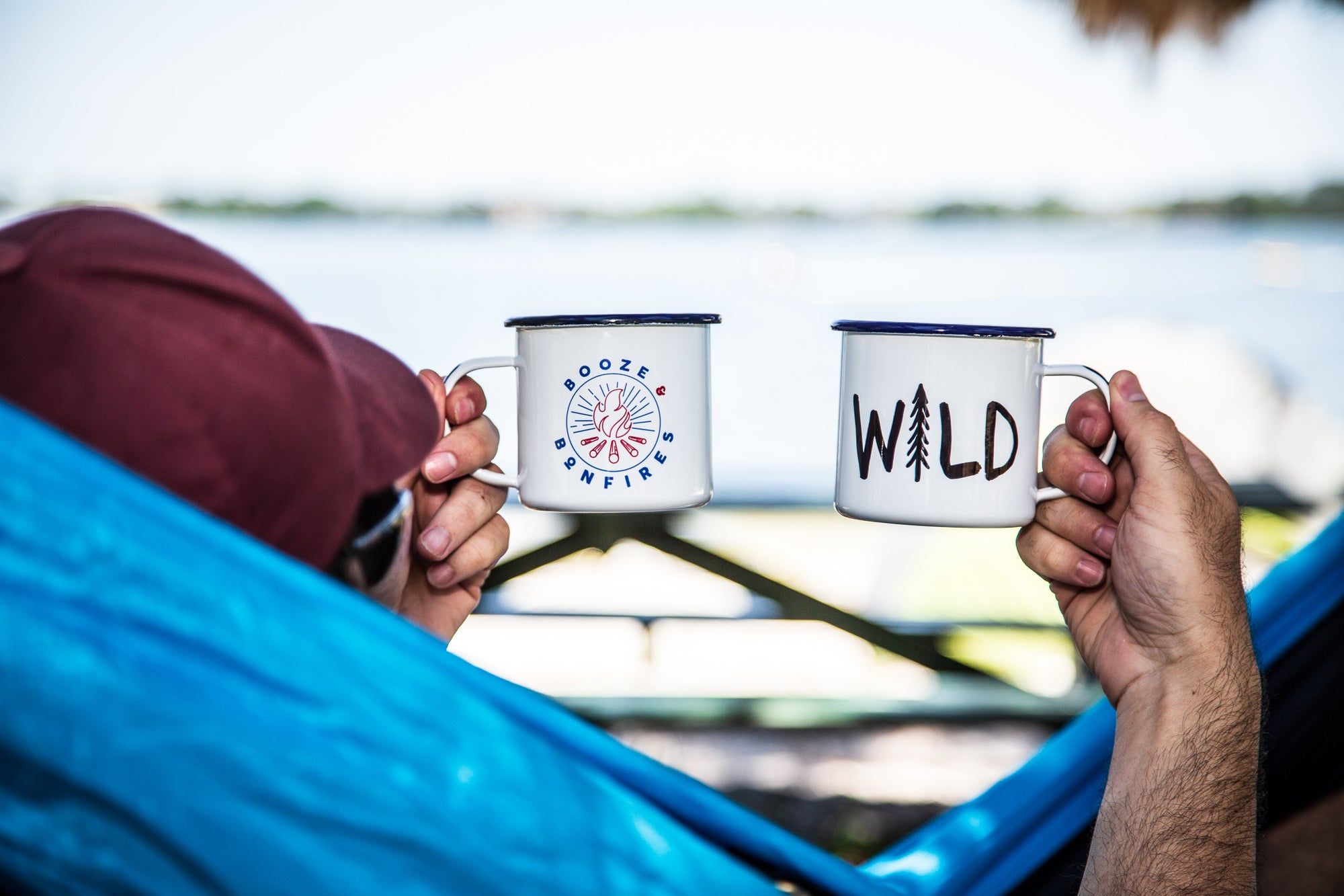 coffee mugs with messages in hammock