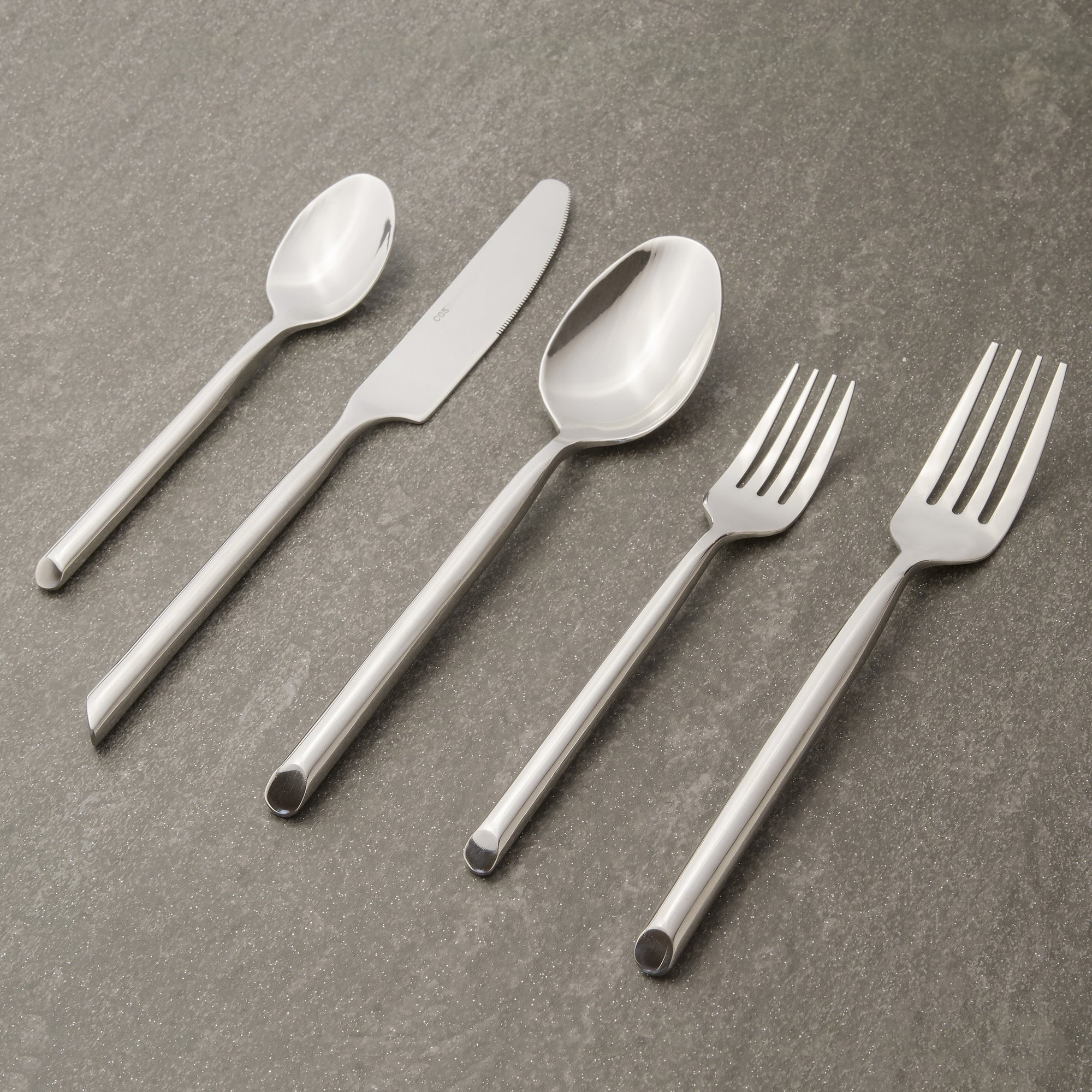South Beach Flatware | 12-pc set per utensil Flatware CGS Tableshop - ROVE AND SWIG