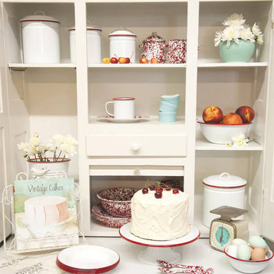 Red Baking Cabinet