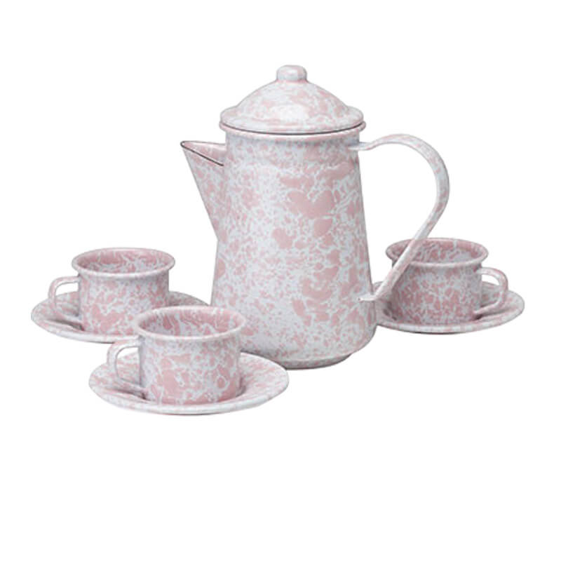 Children's Enamelware Tea Set, Splatterware Collection