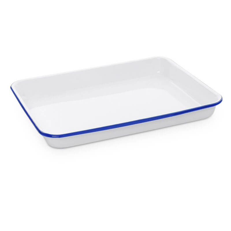 "Small Enamelware Tray, 11"" x 9"", Vintage Collection"