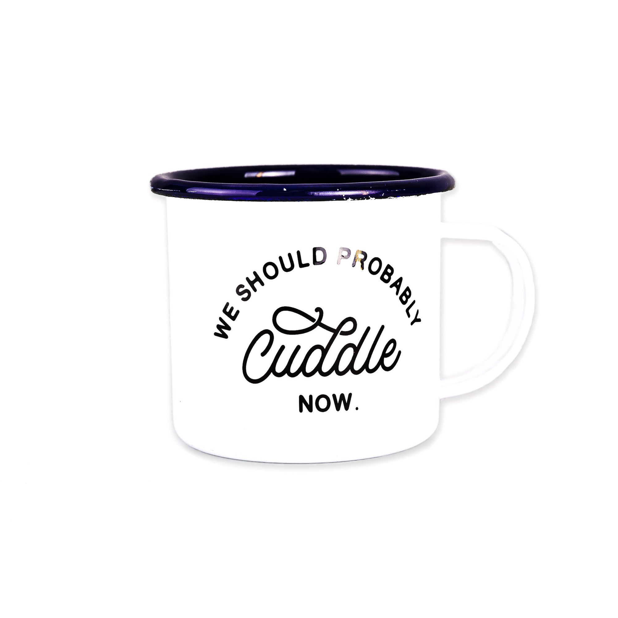 Let's Cuddle Enamel Mug, 16-Ounce
