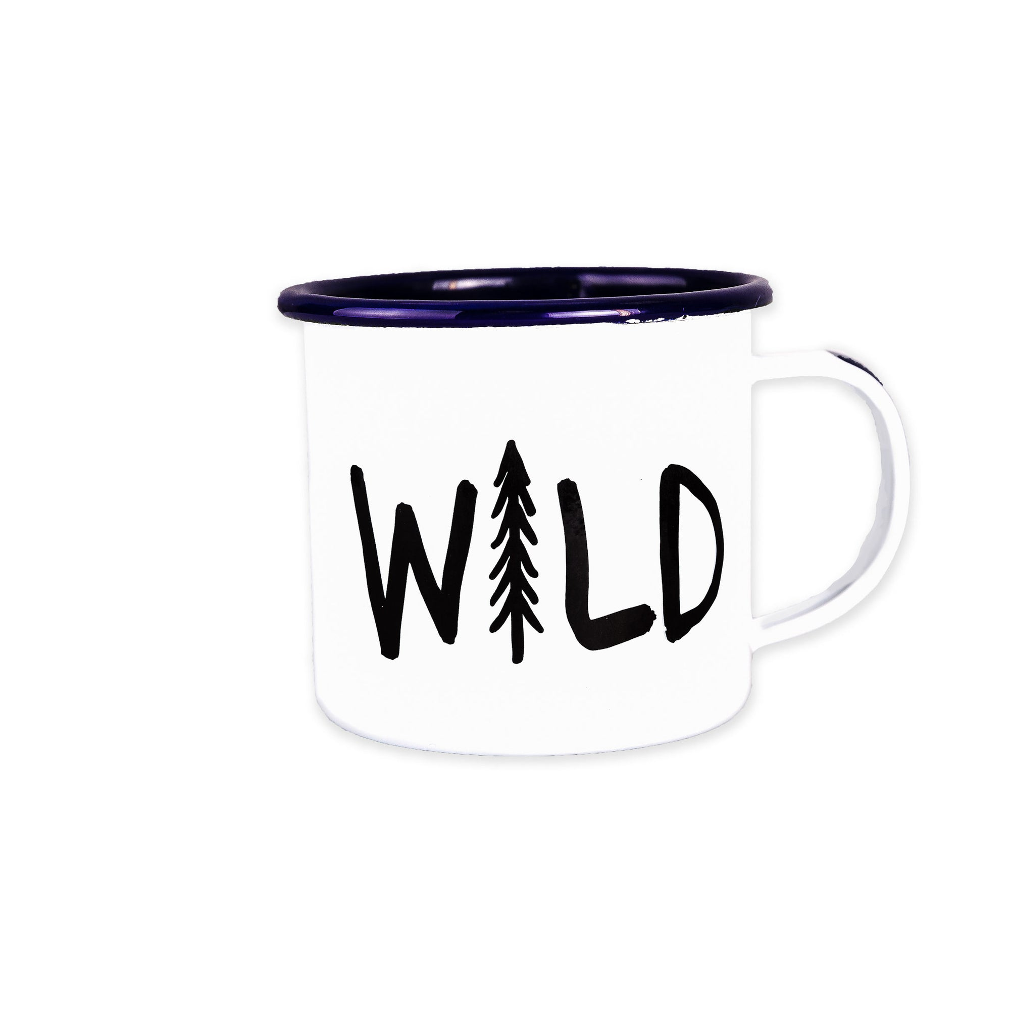 Stay Wild Enamel Mug, 16-Ounce Enamelware Enamel Co - ROVE AND SWIG