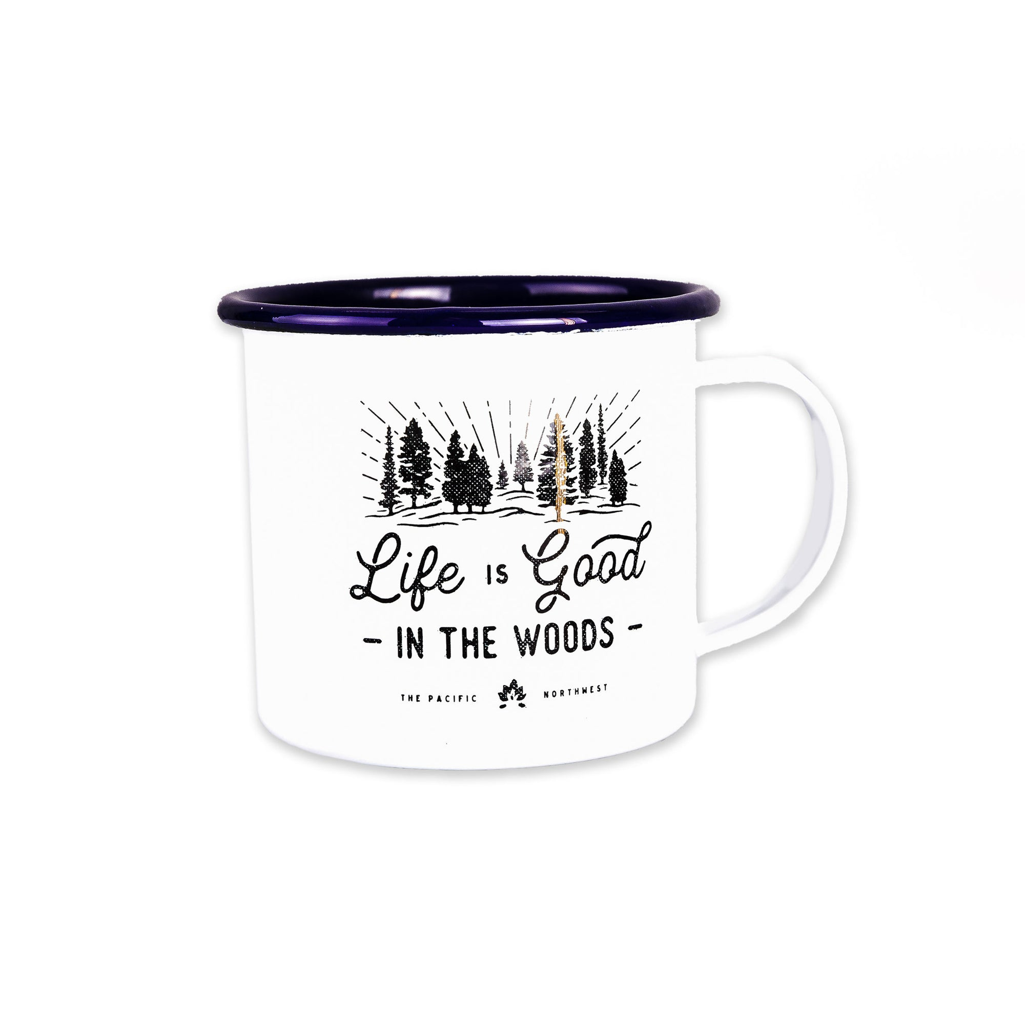 All Good in the Woods Enamel Mug, 16-Ounce