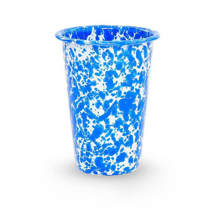 Enamel Tumbler, 14-Ounce, Splatterware Collection