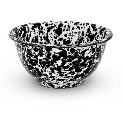Enamelware Crow Canyon Home Splatter, Enamel Bowl Black Splatterware, D02BLM