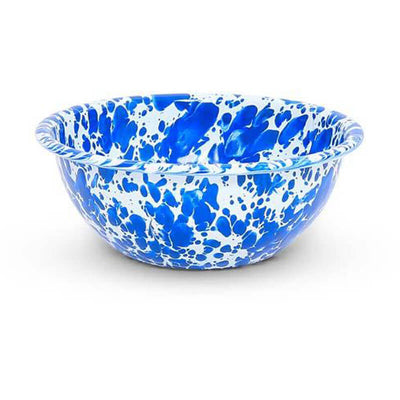 Enamelware Crow Canyon Home Splatter, Enamel Bowl Blue Splatterware, D17DBM