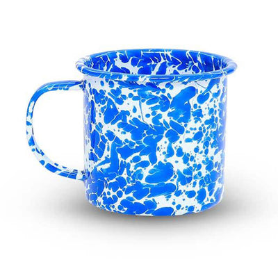Enamelware Crow Canyon, Home Splatter Enamel Coffee Mug, Blue Splatterware D11DBM