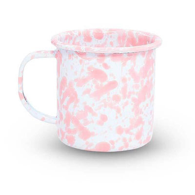 Enamelware Crow Canyon, Home Splatter Enamel Coffee Mug, Pink Splatterware D11PKM