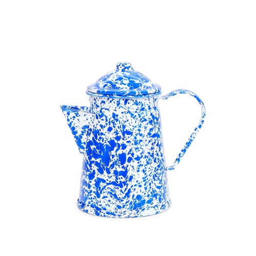 Coffee Pot, 6-Cup, Splatter | more colors Enamelware Crow Canyon Home - ROVE AND SWIG