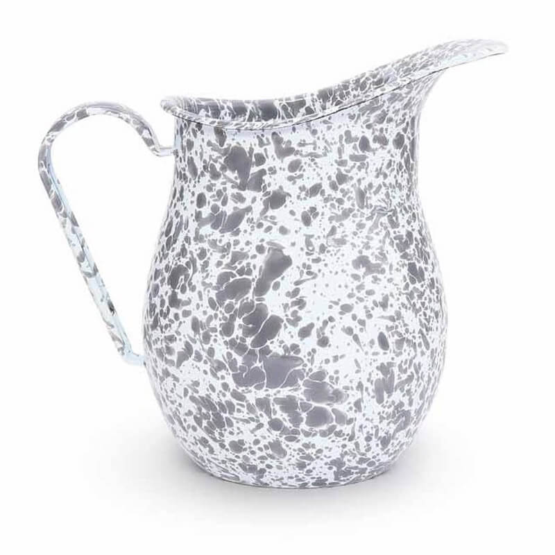 Enamel Pitcher, 3-Quart, Splatterware Collection