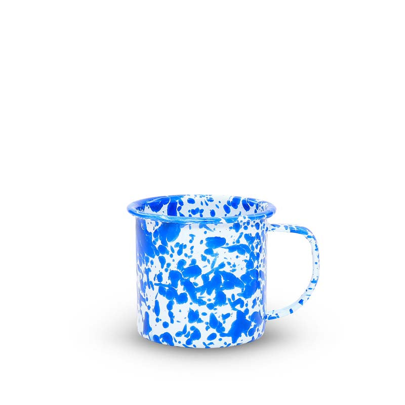 Small Enamel Mug, 8-Ounce, Splatterware Collection | more colors Enamelware Crow Canyon Home - ROVE AND SWIG