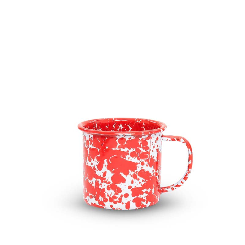 Mug, 8-Ounce, Splatter | more colors Enamelware Crow Canyon Home - ROVE AND SWIG