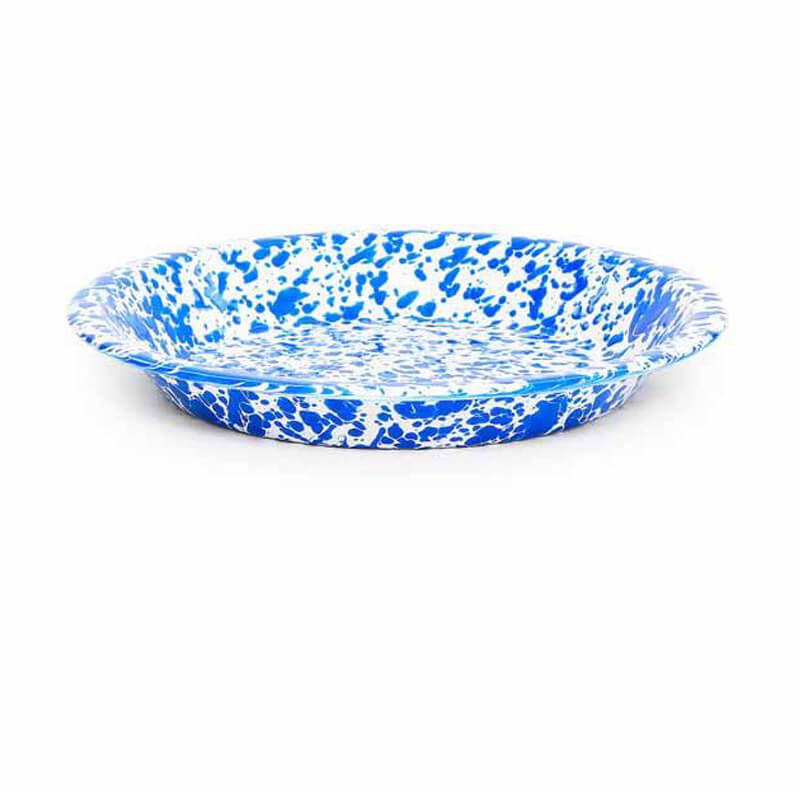 Enamelware Pie Plate, Splatterware Collection