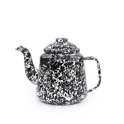 Teapot, 32-Ounce, Splatter Enamelware Crow Canyon Home - ROVE AND SWIG