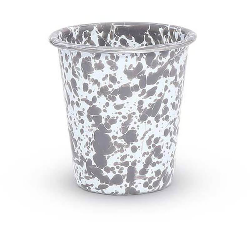 Enamelware Tumbler, 10-Ounce, Splatterware Collection