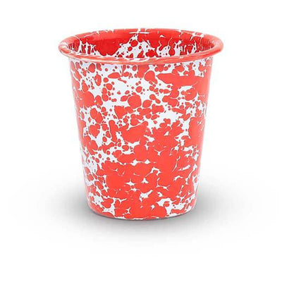 Enamelware Crow Canyon Home Splatter, Enamel Tumbler, Red Splatterware D03RM