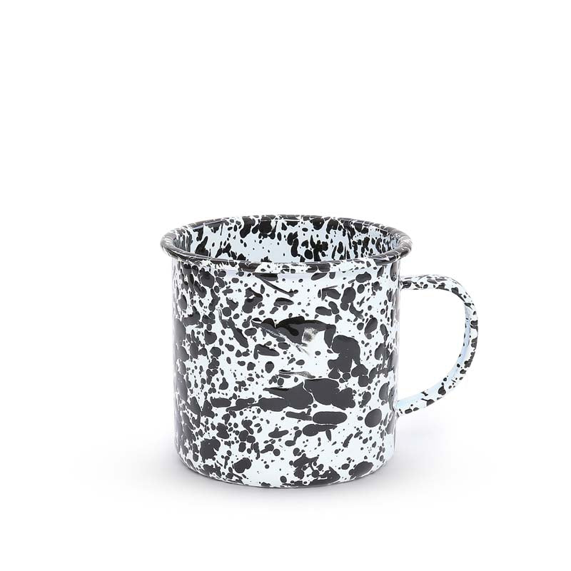 Mug, 24-Ounce, Splatter | more colors Enamelware Crow Canyon Home - ROVE AND SWIG