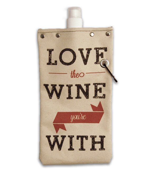 Love the Wine Flexible Flask, 750 ml Flasks and Canteens Tote & Able - ROVE AND SWIG