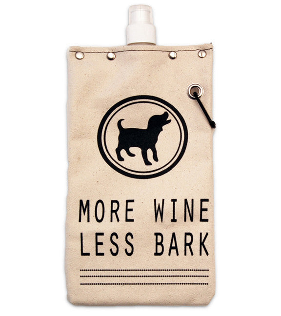 More Wine Less Bark Flexible Flask, 750 ml Flasks and Canteens Tote & Able - ROVE AND SWIG