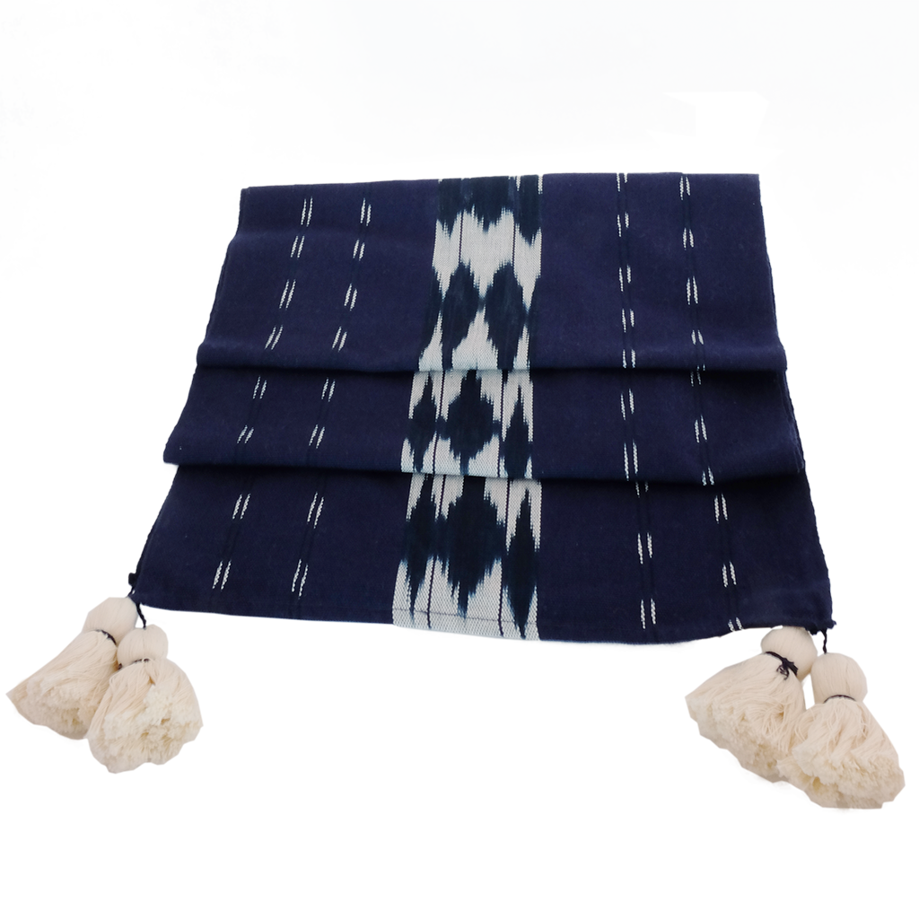 Indigo Table Runner Linens Sobremesa by Greenheart - ROVE AND SWIG
