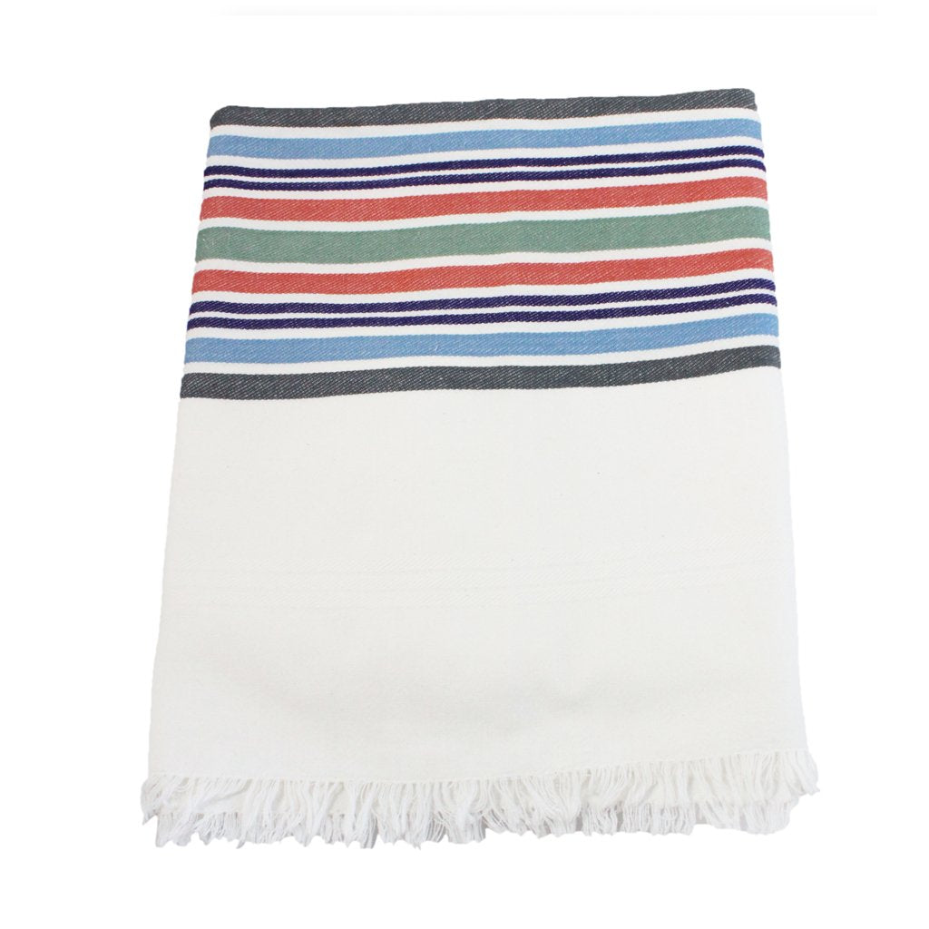 Multicolor Stripes Tablecloth Linens Sobremesa by Greenheart - ROVE AND SWIG