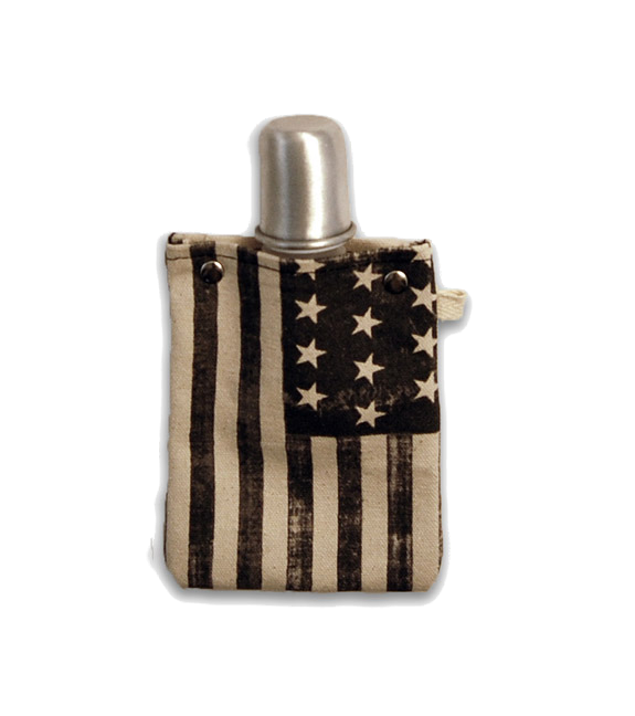 Americana Flask with Shot Glass Top, 4-Ounce Flasks and Canteens Tote & Able - ROVE AND SWIG