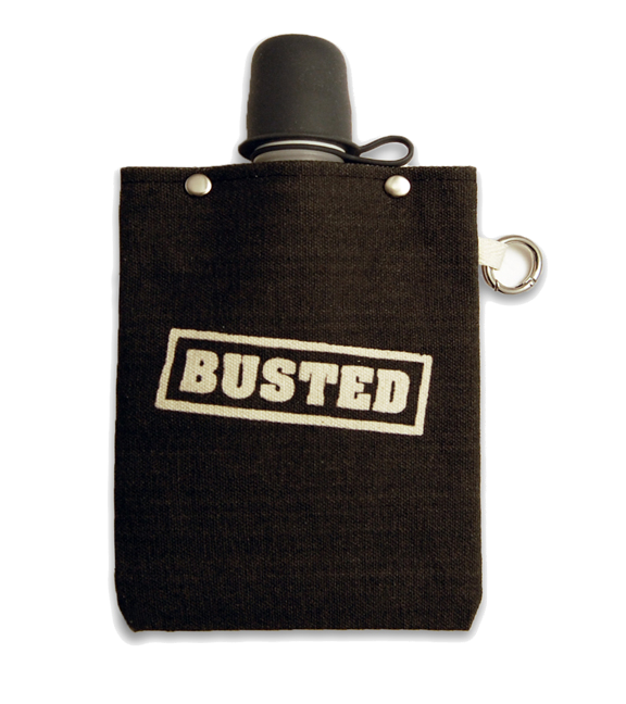 Busted Flask with Stealth Cap, 8-Ounce Flasks and Canteens Tote & Able - ROVE AND SWIG